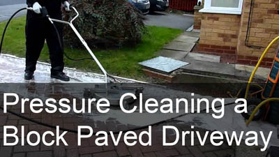 Pressure Cleaning a Block Paved Driveway